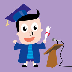 Student Vector Design Illustration