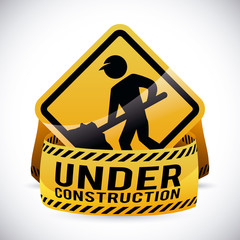 Under construction design, vector illustration.