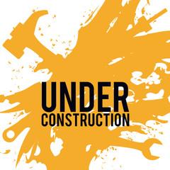 Under construction design, vector illustration.