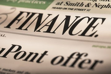 Finance. financial newspaper series