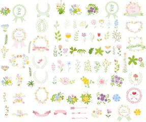 Набор свадебных графических SET- венок, цветы, стрелы