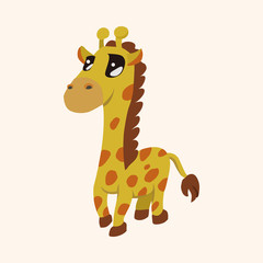 animal giraffe cartoon theme elements
