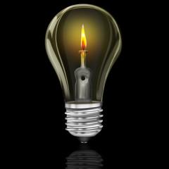 Glühbirne, Energiesparlampe, Energiesparbirne,  freigestellt