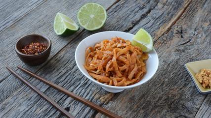 Thai style noodles or Pad Thai (Thai cuisine)