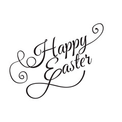 Happy Easter Hand lettering Greeting Card