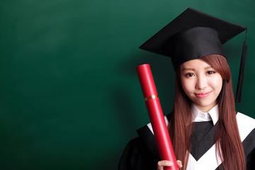 Smile graduate student woman