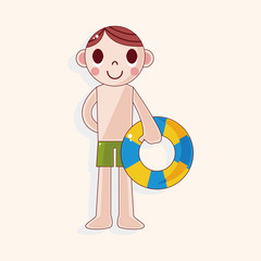 swimmer theme elements