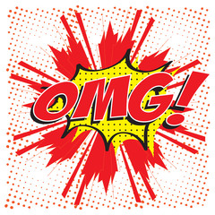 Oh My Good! wording comic speech bubble