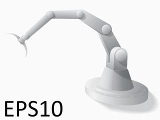 3d illustration of robotic hand.