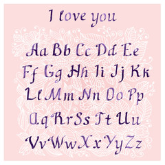 romantic Handwritten watercolor letters