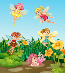 Fairies flying