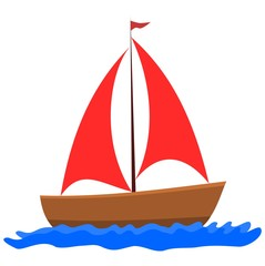 Sailboat - Illustration