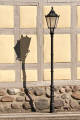 Street Light with a long Shadow