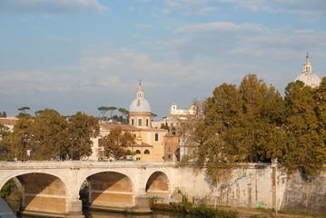 Stone bridge in Rome