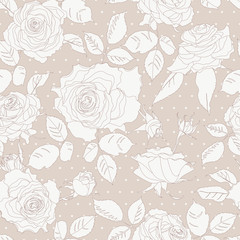Seamless Floral Background With  Roses.