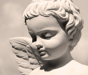 angelic face - detail of sculpture