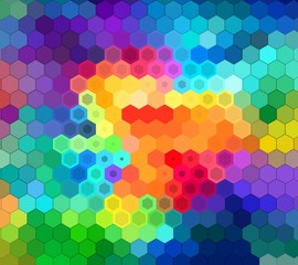 Colorful background of colored cells