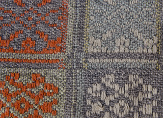 fabric with a multi-colored ornament