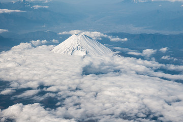 Aerial View of Mt. Fuji Hoei Crater Side (富士山 宝永噴火口側)