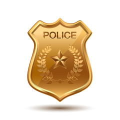 Police Badge isolated on white background