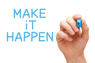 Make it Happen Blue Marker