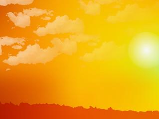 空 夕日 背景