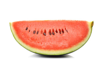 red watermelon isolated on white background