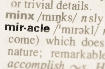 Dictionary definition of word miracle