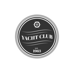 Vector yacht club logo