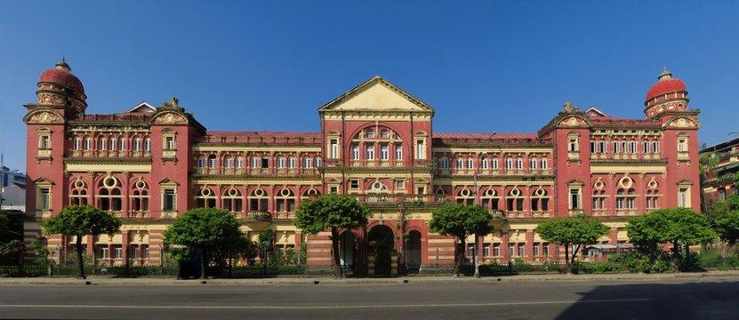 British colonial palace in Yangon, Myanmar.