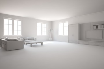 grey interior concept-3d rendering