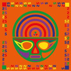 multicolor mask