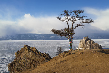 Baikal Lake. Olkhon Island in winter time