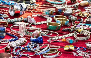 Ethno Jewelry on a Flea Market