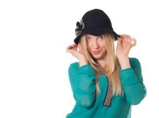 Blonde put hat
