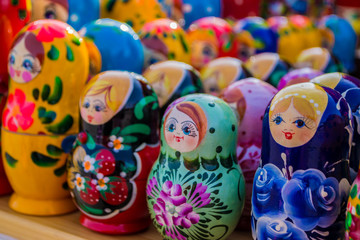 Russian Wooden Puzzle Dolls