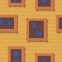 seamless background with puzzles