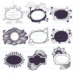 Doodle frames.
