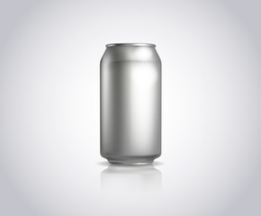 Metal can. Vector illustration of cold drink can isolated