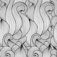 Seamless ornament wave
