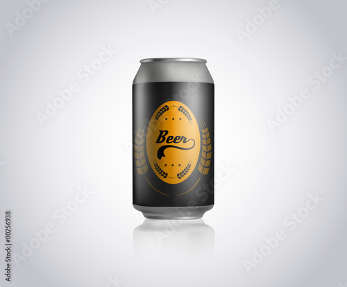 metal can for beer template commercial stock image and royalty