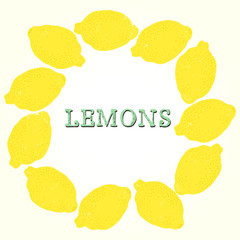 Fruit frame made of lemons