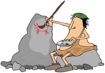 Caveman artist