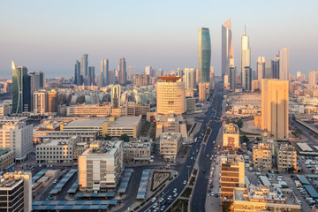 Downtown of Kuwait City, Middle East