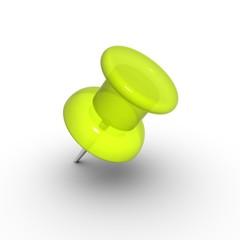 Yellow thumbtack