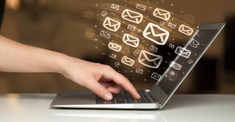Concept of sending e-mails