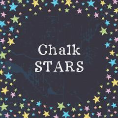Hand sketched stars frame.