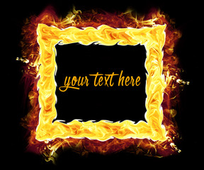 Fire Photo Frame