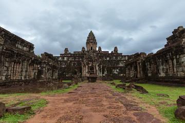 The ruins of Bakong Temple, Angkor Historical Park, Cambodia.