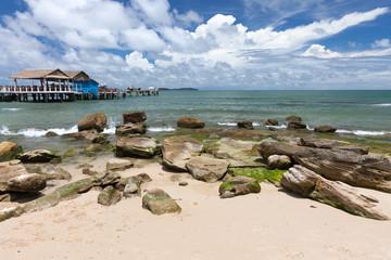 Sihanoukville beach, popular resort in Cambodia.
